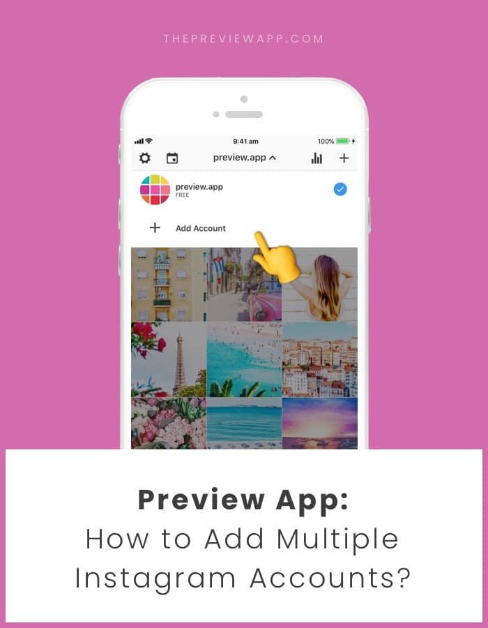 Schedule multiple Instagram accounts in Preview app