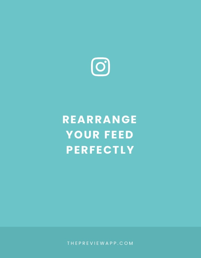 Rearrange Instagram feed layout