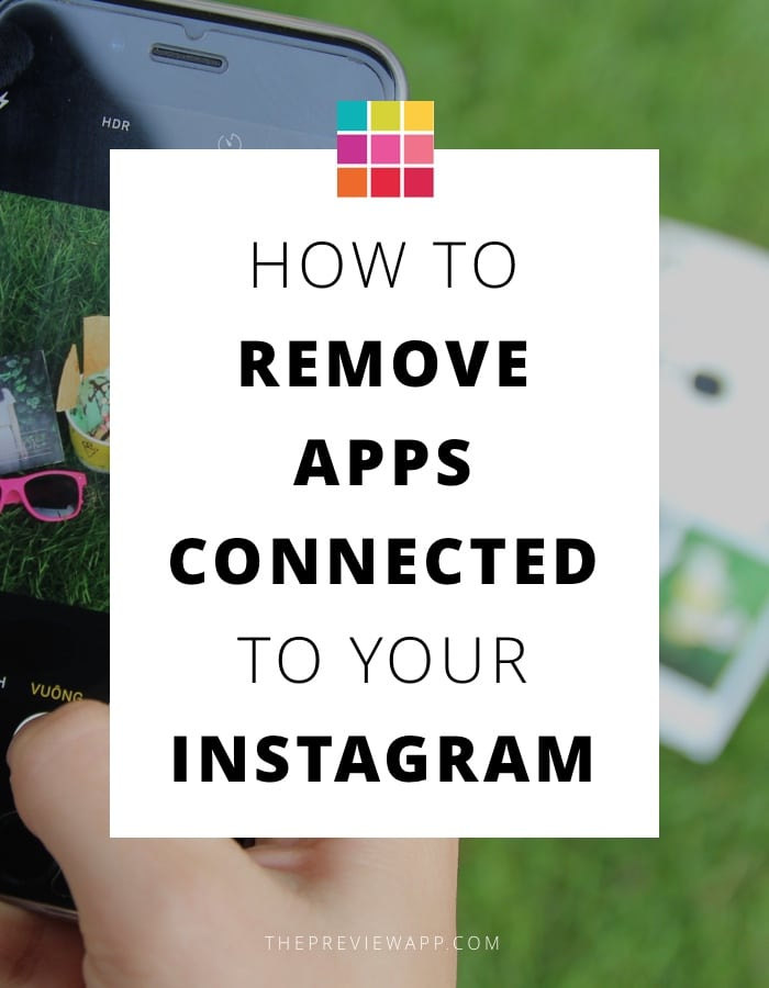 How to remove apps connected to instagram account