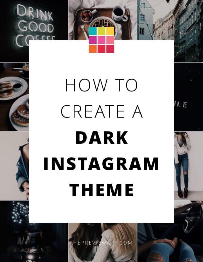Dark Instagram theme tutorial