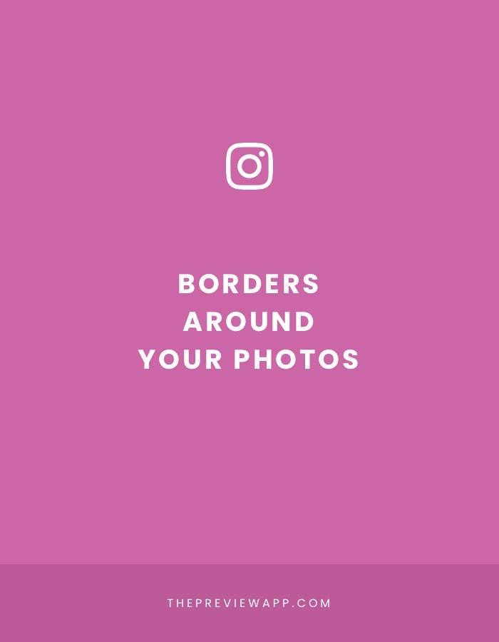 White border on Instagram photos