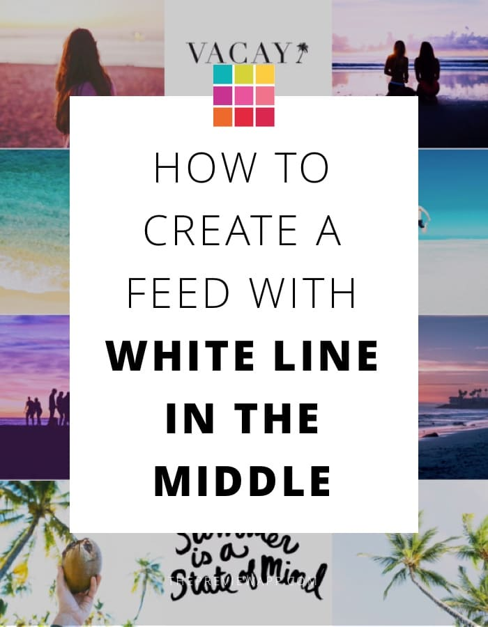 Instagram theme with white in line the middle