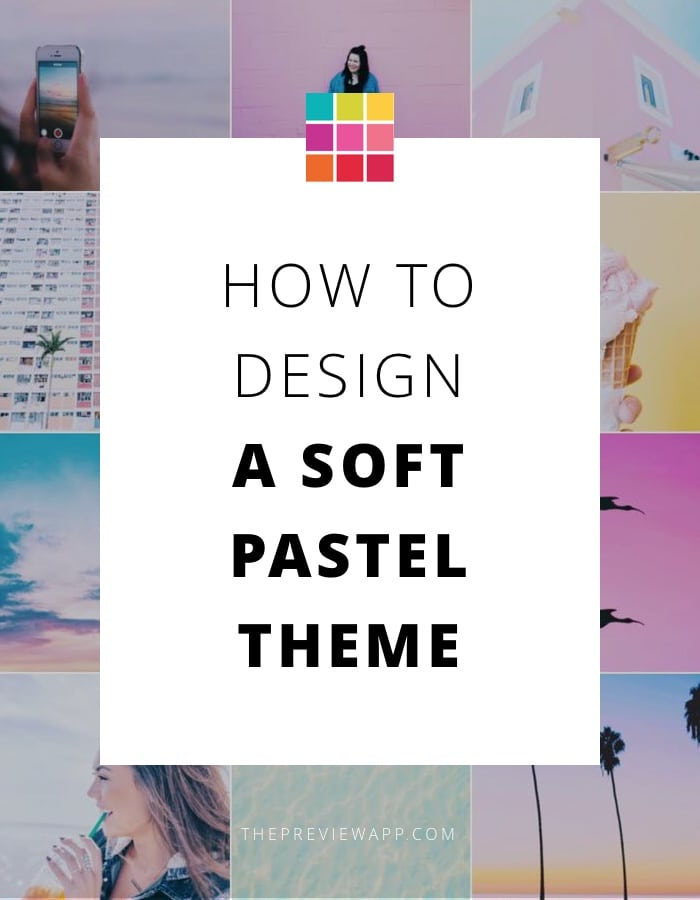 Pastel Instagram theme using Preview app