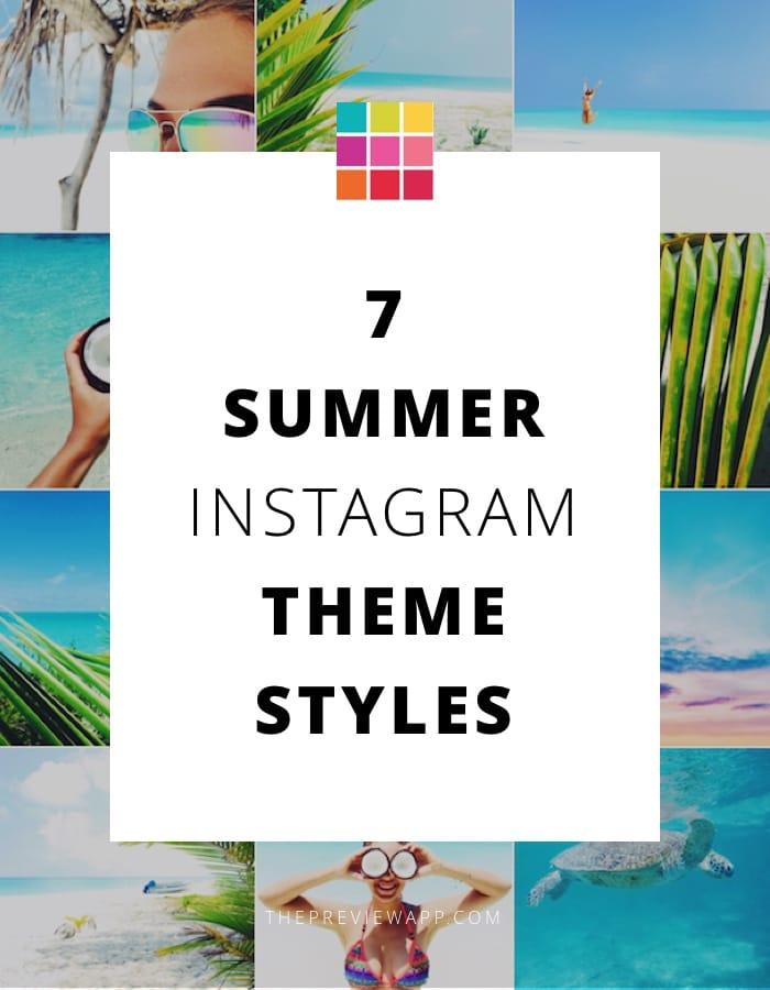 Summer Instagram theme ideas