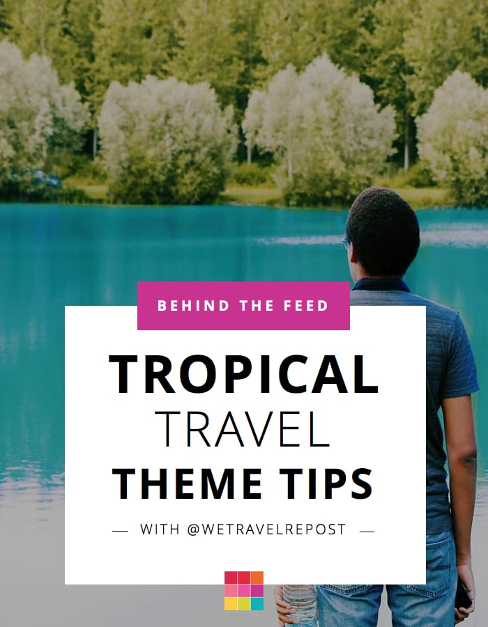 Dark tropical Instagram theme tips by @wetravelrepost