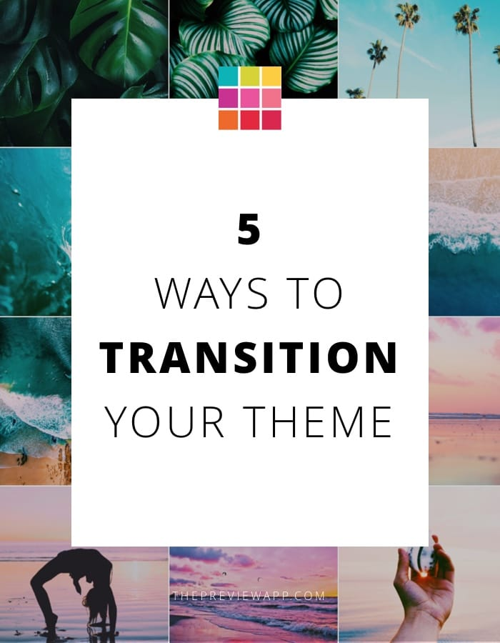How to transition Instagram theme