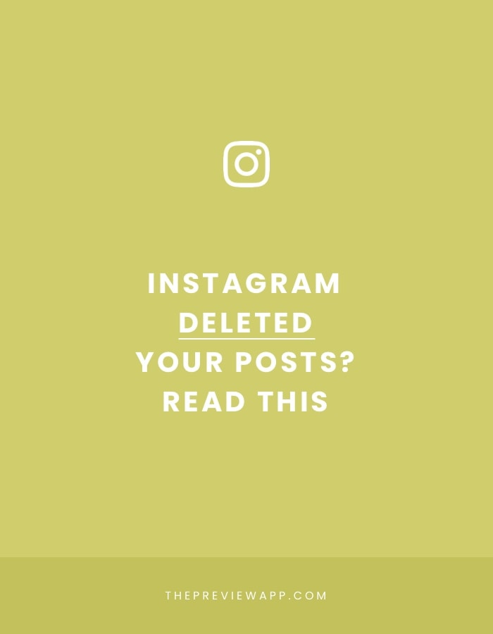 Instagram deleted photos and my account