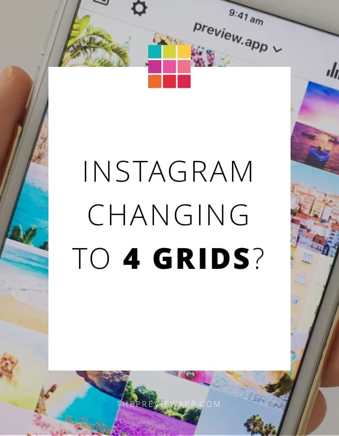 Instagram four grid layout Preview App