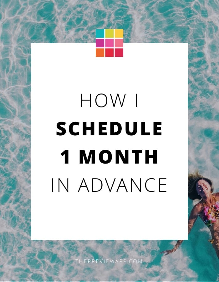 Schedule Instagram feed one month in advance with Preview App