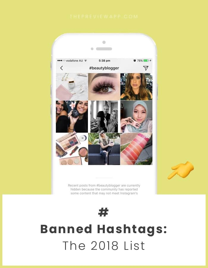 List of Banned Instagram Hashtags 2018
