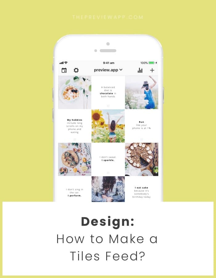 Instagram feed layout: tiles with quotes