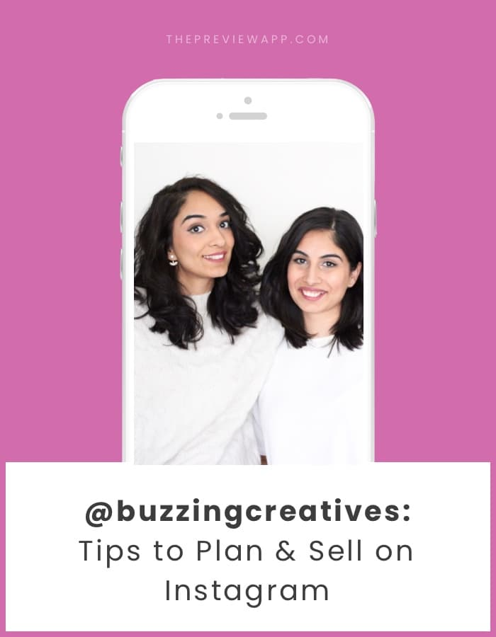 Tips to plan and sell on Instagram with Buzzing Creatives