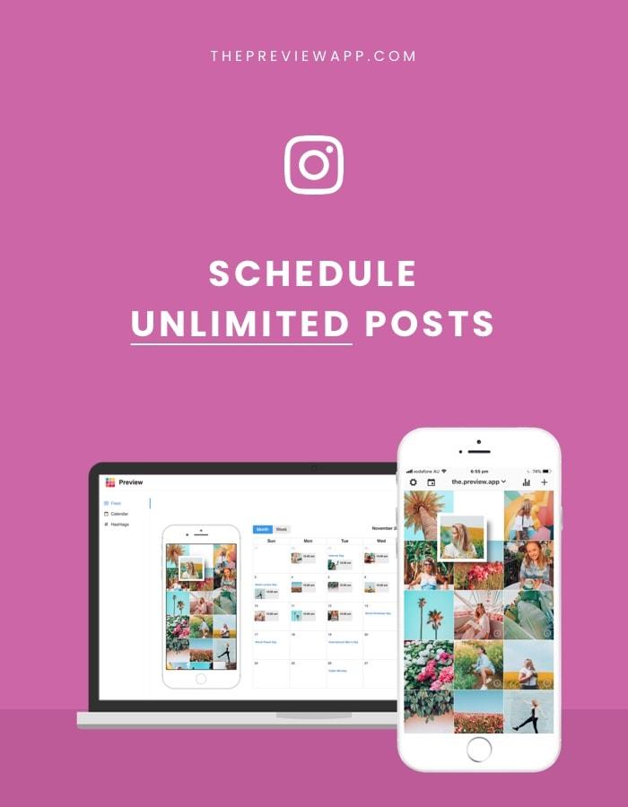 Schedule Instagram posts free in Preview app