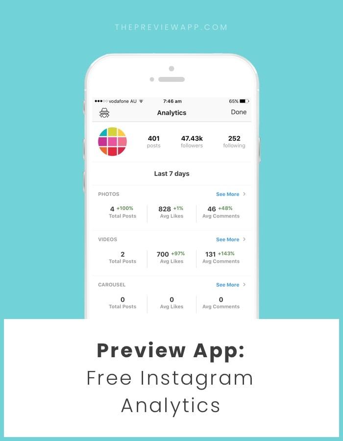 Free Instagram Analytics app
