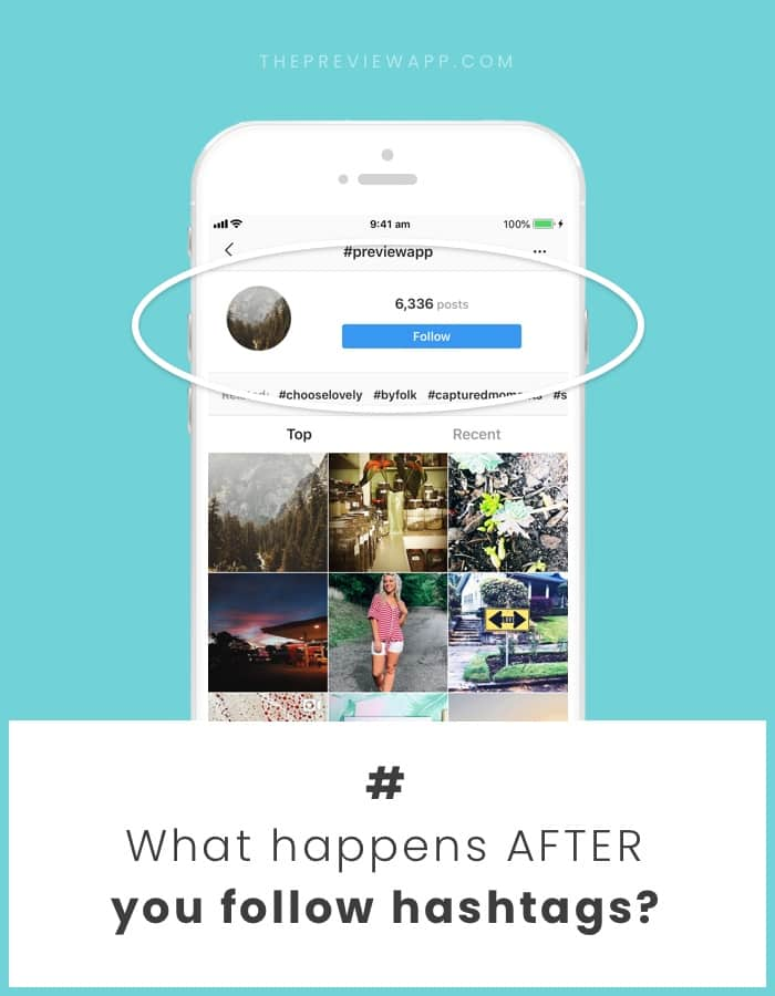 Follow an Instagram hashtag