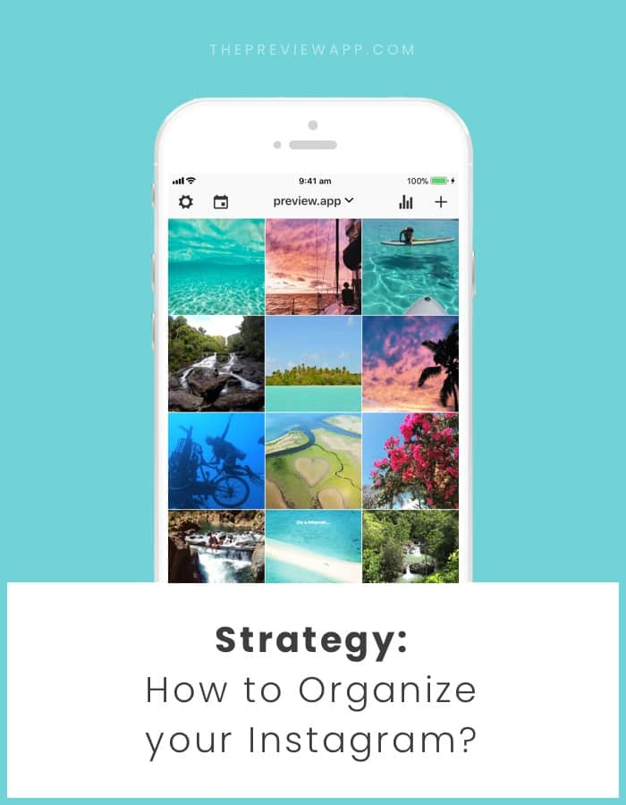 Organize your Instagram feed