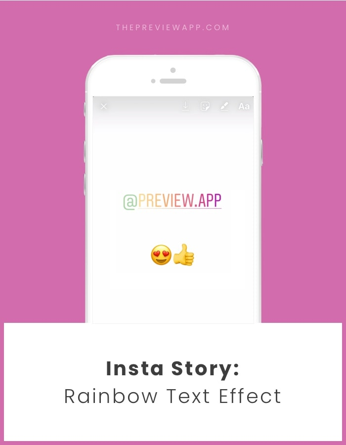 How to do a rainbow ombre text effect Insta Story?