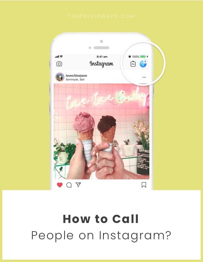 How to call people on Instagram?