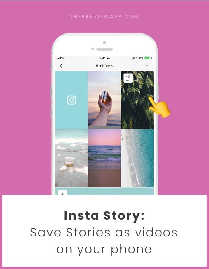 How to save Insta Story as videos in phone camera roll