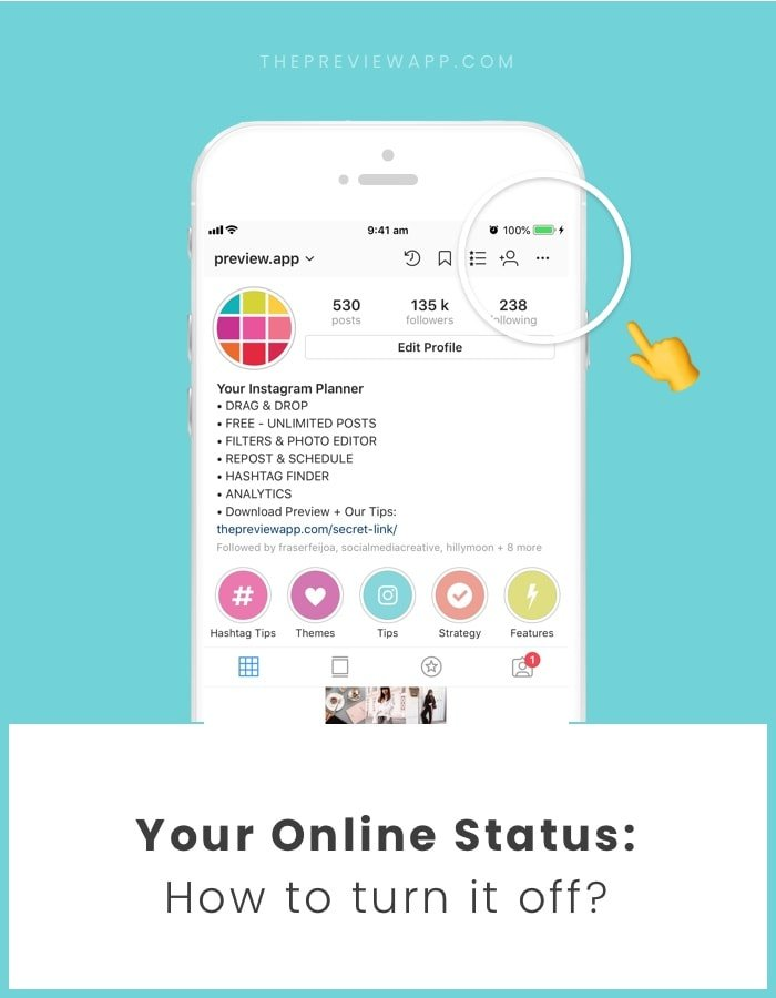 How to turn off online status on Instagram?
