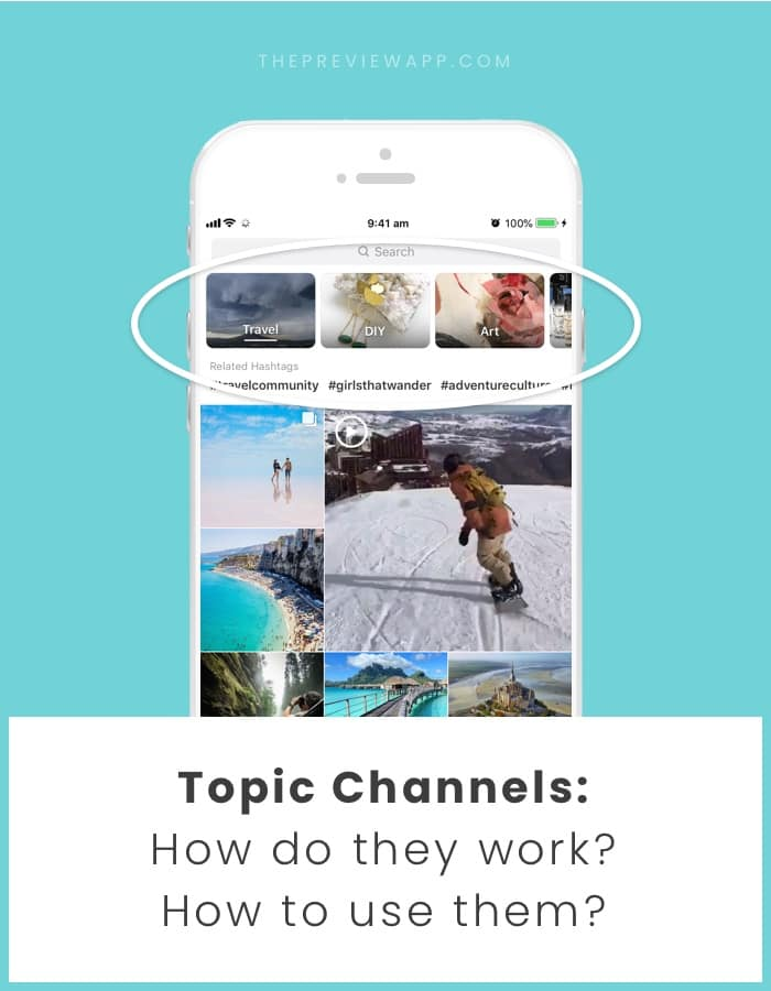 How to use Instagram Topic Channels on Explore page?
