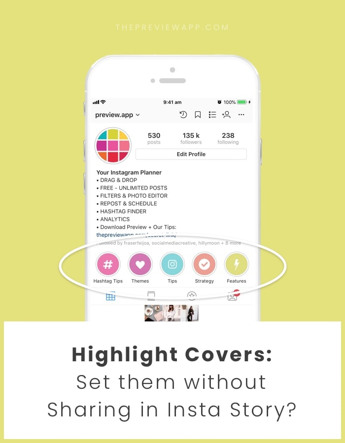 How to set Highlight cover without sharing on Insta Story?