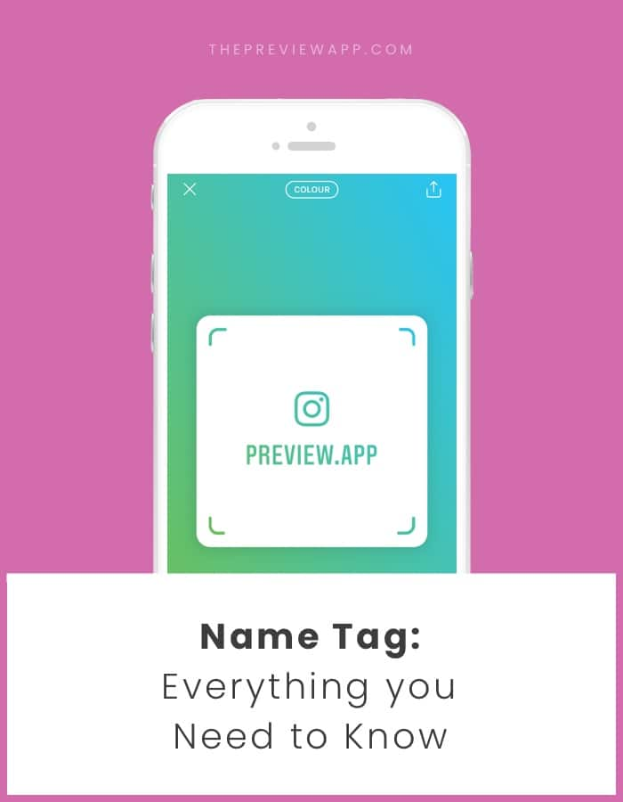 How to use the Instagram Name Tag QR Code?