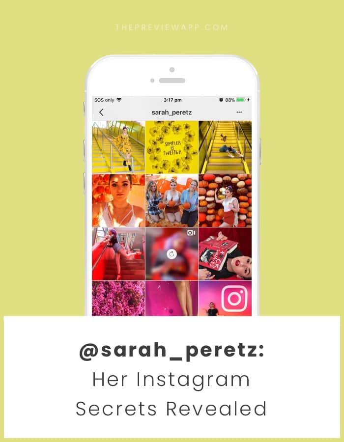 Sarah Peretz Instagram Feed design