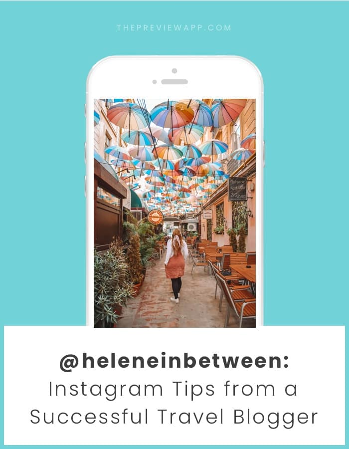 Travel blogger Instagram tips by Helene in Between