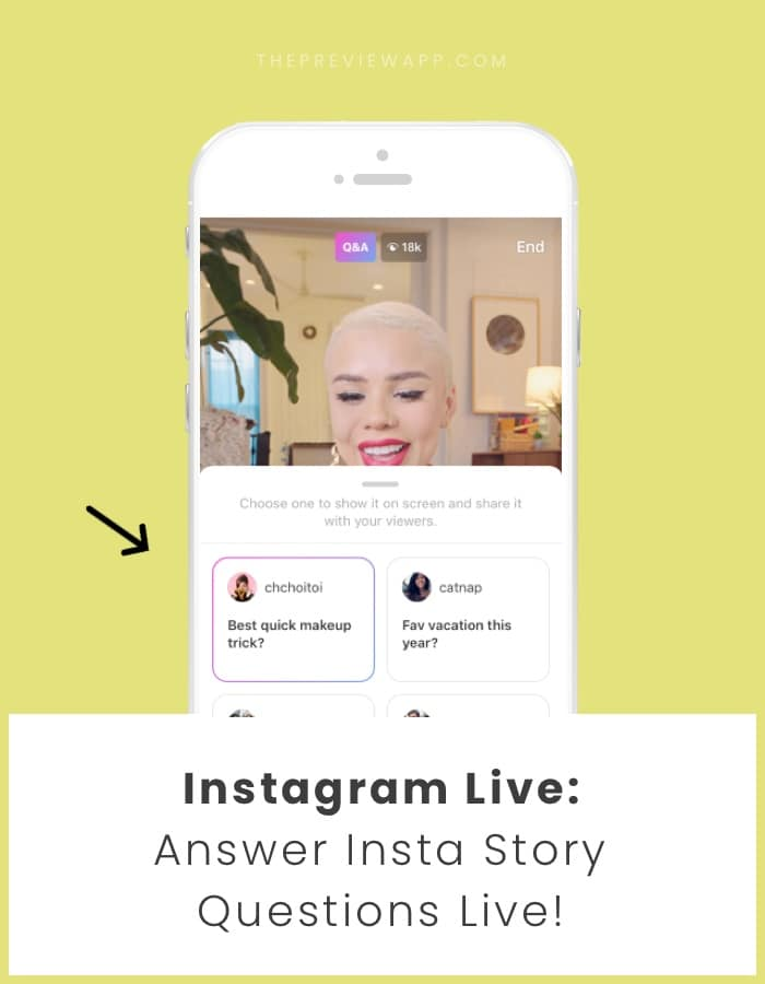 How to answer Insta Story questions during Instagram Live