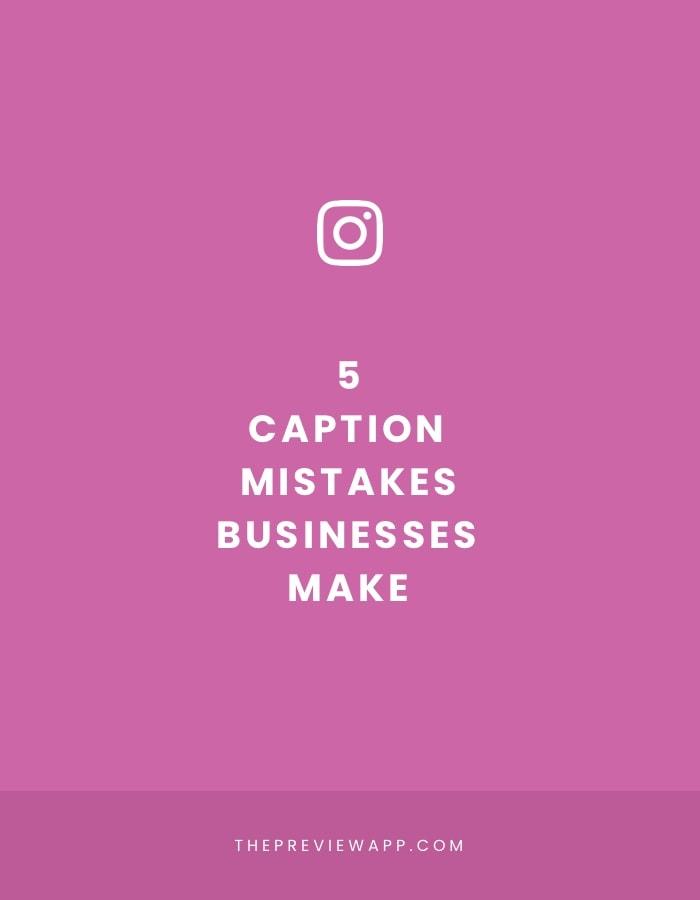 Instagram caption mistakes