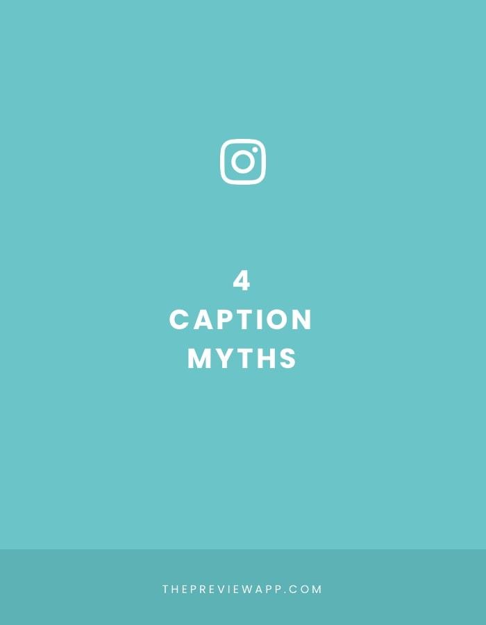 4 Biggest Instagram Caption Myths - Busted.