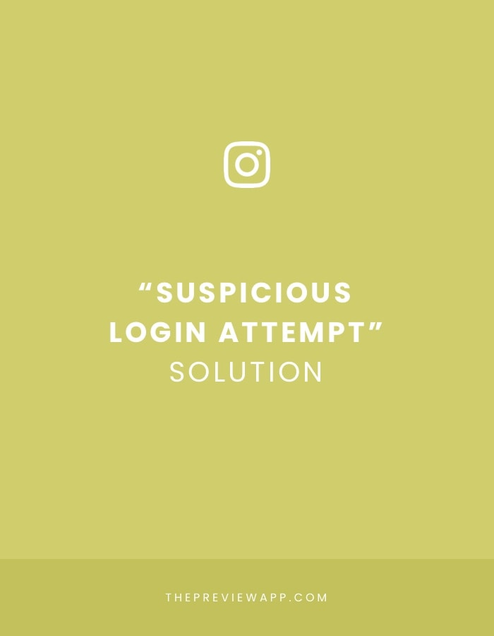 Suspicious login attempt Instagram solution