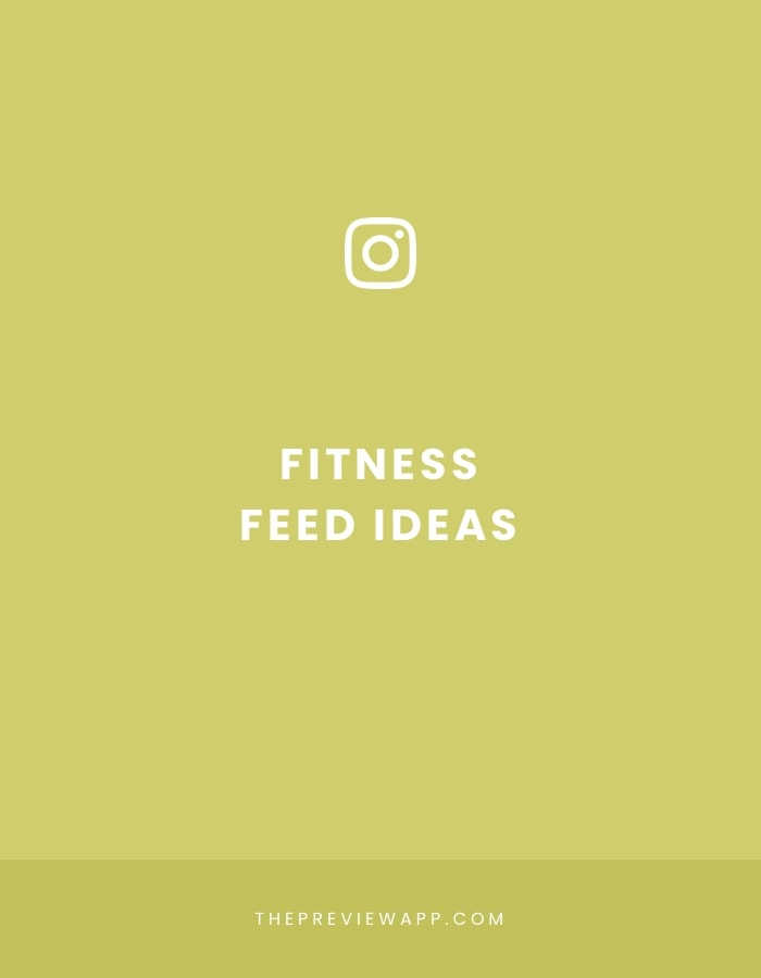 Instagram feed ideas for fitness accounts