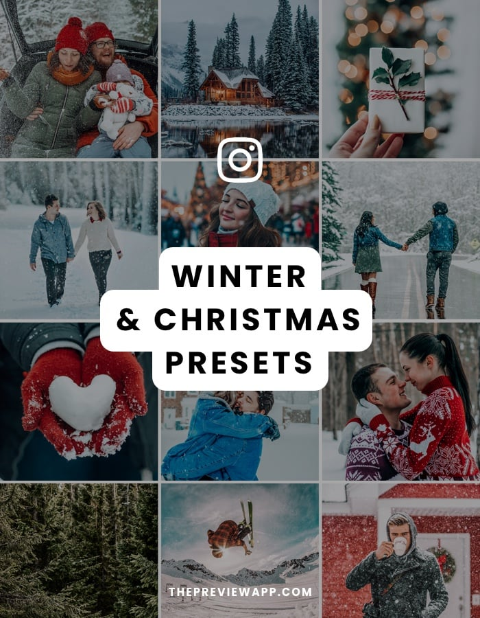 Winter and Christmas Presets for Instagram