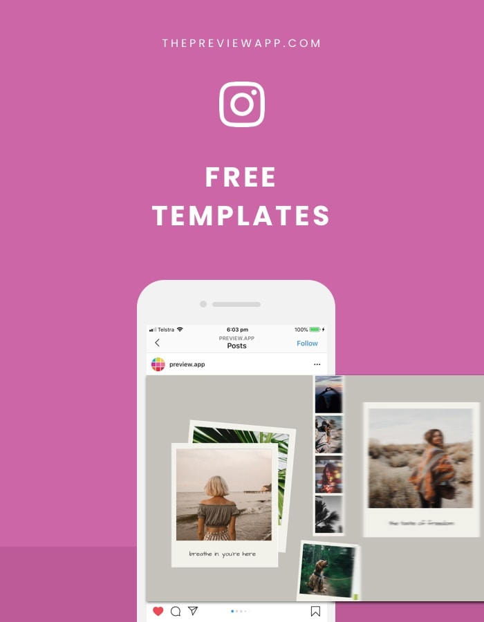 Instagram carousel templates: Free