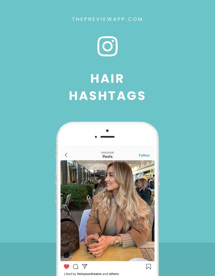 Instagram hashtags for Hair, Hairdressers, Hairstylists and Barbers