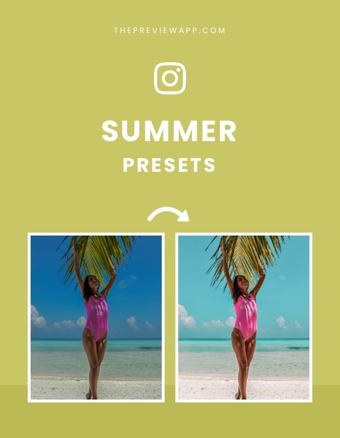 Summer and Beach Presets in Preview App