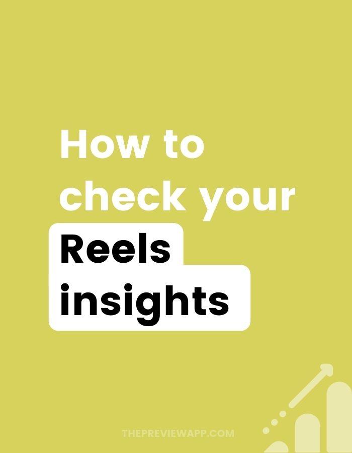 Instagram Reels insights
