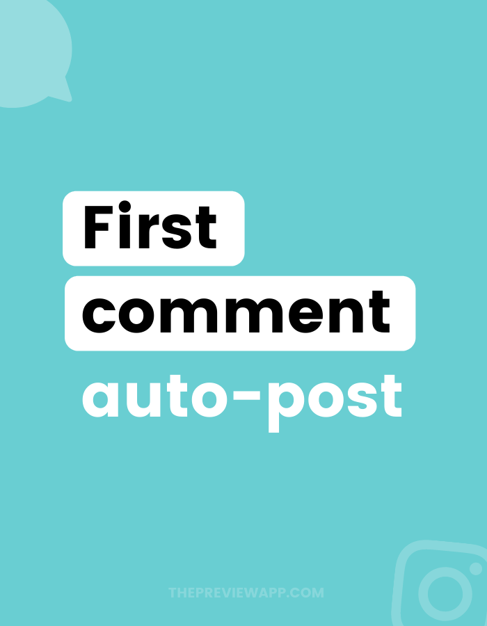 How to schedule first comment on Instagram with Preview app